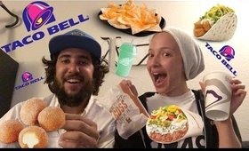 TACO BELL WATCH US EAT!!! VLOG | Babylailalov