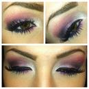 pinky purple smokey eye!