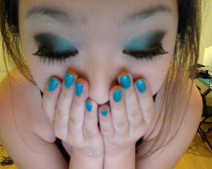 blue x black