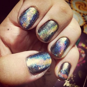 My first galaxy nails