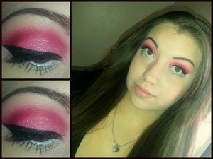 Red, pink, white holographic glitter