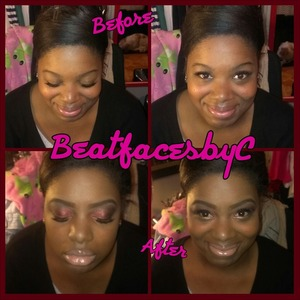cranberry Smokie eye with a nude lip ! individual lashes ! simply fall ready !!