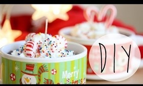 DIY Holiday Hot Cocoa Candles {Xmas Gift Idea}
