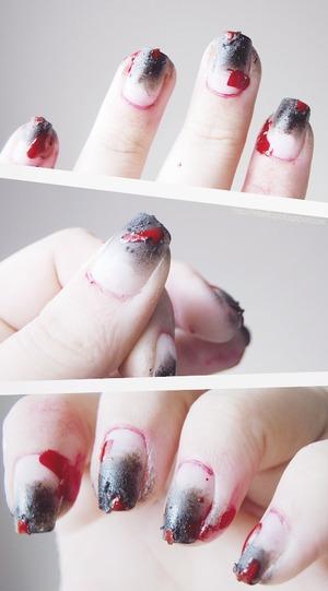 http://imkellay.blogspot.com My third Halloween nail art.