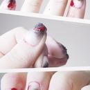 Halloween Zombie Nail Art.
