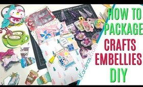 How to pack up Embellishments for Happy Mail, 12 Days of Christmas 2019 Day 3, Packing up Happy Mail