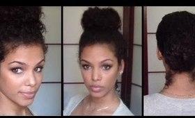3 Classic Buns | Natural Curly Hair | Top & Low Bun