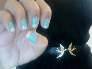 bubblegum pop nails. (looks like a gel in real life!) who likes my birdie belt? ;]