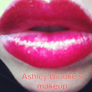 I used a red stain from stila and mixed it with buxom hot pink lipstick and buxom lipgloss Katie