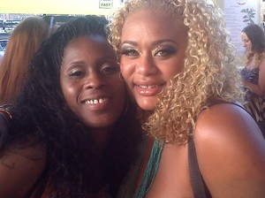 Me and IMBEATFACEHONEY at the MAC Party.