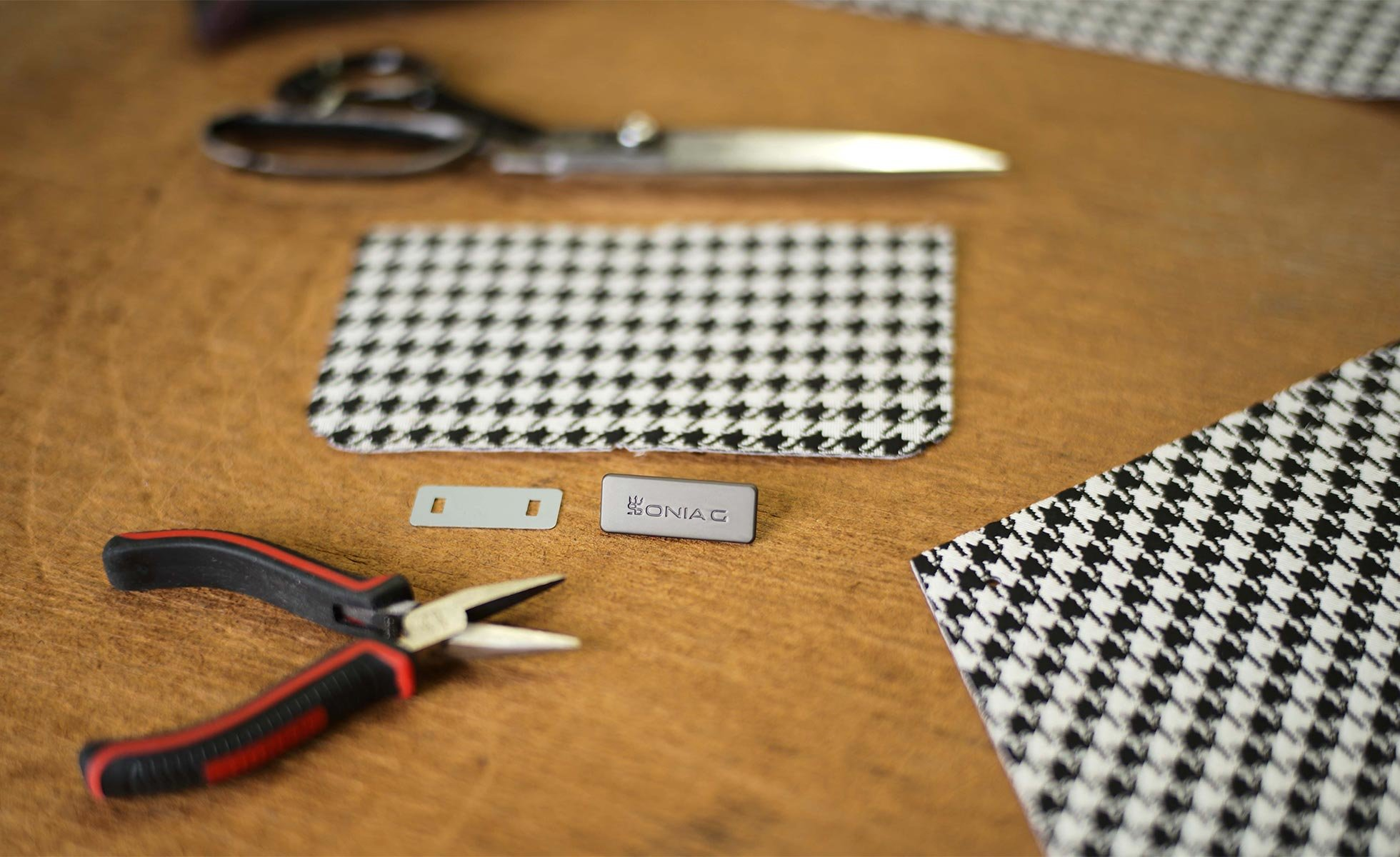 Behind the scenes of Sonia G. Houndstooth Collection