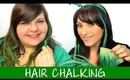 How to Hair Chalk with Hair Extensions - St. Patrick's Day Hairstyle | Instant Beauty ♡