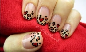 Valentine's Day Leopard Nails!!
