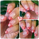 Red Nails   White and Red French Tip Nail Art