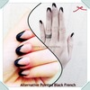 Alternative Pointed Black French Manicure