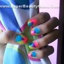 Overlapping Triangle Nail Design