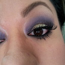Purple eyeshadow & champagne glitter