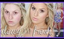GRWM Makeup & Outfit ♡ Dewy & Fresh Skin w/ Shimmer Taupe Eyes!