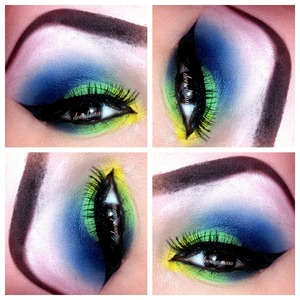 using my bright palette from unique style's boutique