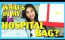 What's in my Hospital Bag + Baby's Hospital Diaper Bag?