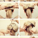 How to make your hair in a bow 💁🎀