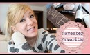 November Beauty and Lifestyle Favorites