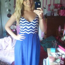 Diy blue Chevron maxi dress