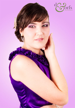 Purple seduction makeup for a client Photo courtesy of d&orfs photography