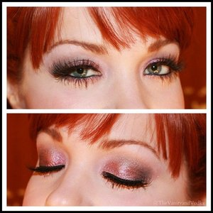 This look was created using mostly Aromaleigh Shadows.  To see the full blog post with complete product list, please visit:  http://www.vanityandvodka.com/2014/12/shimmering-sugarplum.html  xoxo!