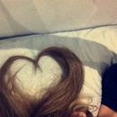 Valentines say inspired heart in hair