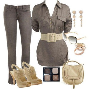 So fall / spring dull colors but it's a everyday chic look