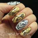 Triangles And Dots On Silver And Gold Holo
