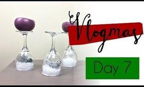 Vlogmas Day 7 | Snowglobe Candle Holder