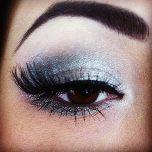 snowy eyes with MAC's glitter and ice collection.