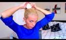 Sock Bun Hairstyle | How To Sock Bun | Ballerina Bun using Sock | Red Carpet High Bun