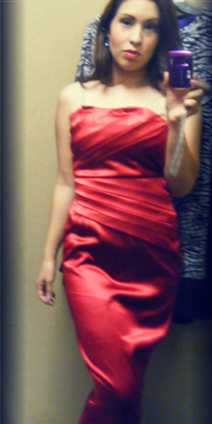Trying on clothes is so much fun, this dress reminded me of Jessica Rabbit. Taken 1/20/12