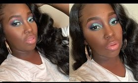 Blue Glitter Cut Crease Makeup Tutorial