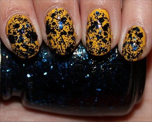 Mosaic Madness is from the Glitz Bitz 'n Pieces Collection. See more swatches & my review here: http://www.swatchandlearn.com/china-glaze-mosaic-madness-swatches-review-layered-over-nicole-by-opi-hit-the-lights