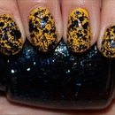 China Glaze Mosaic Madness (Layered Over Nicole by OPI Hit the Lights)