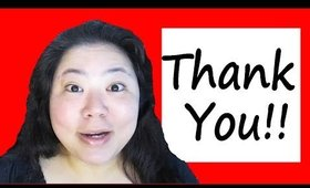Thank You For All Your Support!  100 Subscriber Milestone!  See Me Tear Up....