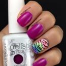 Gelish Zebra Nails