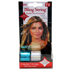 Bling String 500' Hair Tinsel with Clips - Hologram Silver/Blue