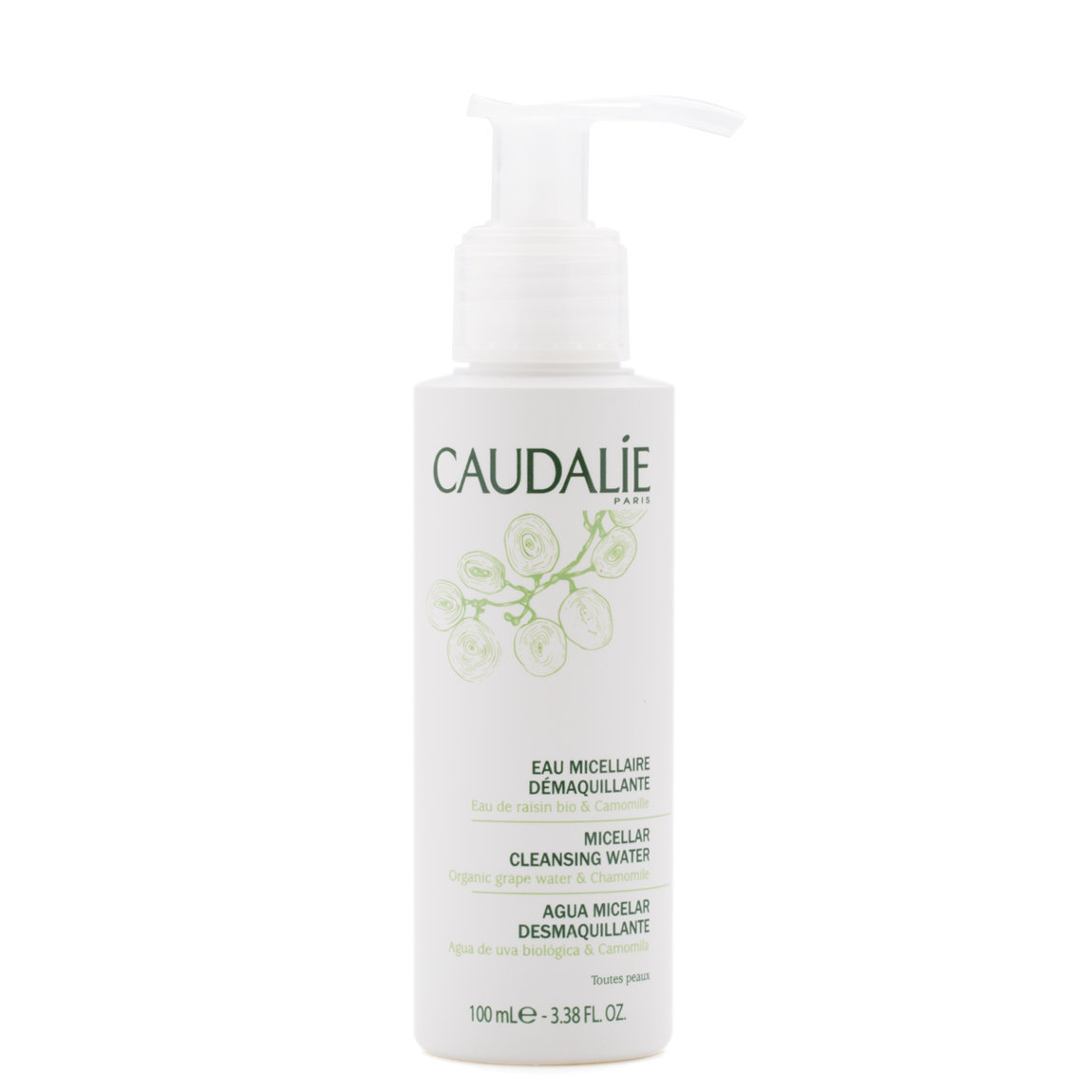 Caudalie Micellar Cleansing Water 100 ml product smear.