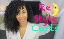 Re-Style Curly Hair ✧ Next Day ☾ Sleep Method