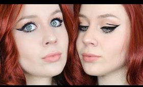 Black Widow Graphic Eye Liner Contour Makeup Tutorial 2020 | Lillee Jean