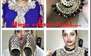 Huge ethnic haul.. Sarees, anarkali,jewelry and shoes.