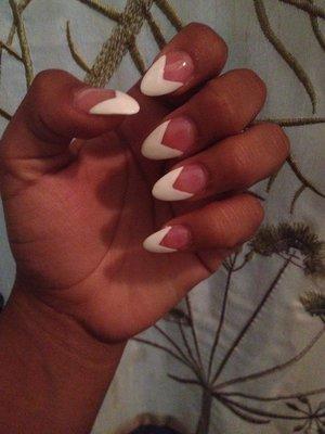 Pointy V-Shape Nails (: