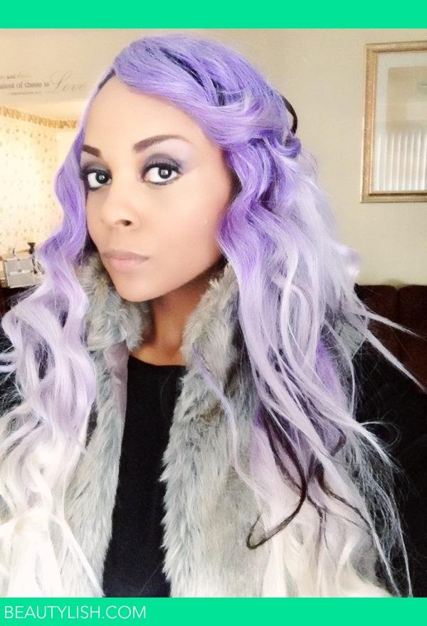 Purple Hair Mixed With White And Blk April C S