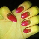 Red with glitter