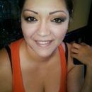Gold eyeshadow look i did on my model